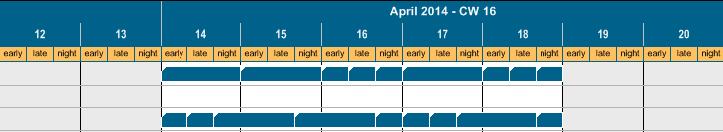 Shift Calendar in Timescale in Gantt Chart