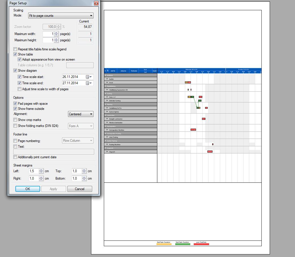 Visual Planning Board Print Function