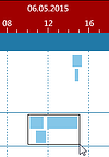 Gantt Chart trick: select a timeframe when working with operations with short durations