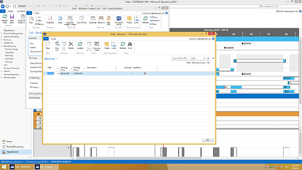 Visual Scheduling for Microsoft Dynamics NAV