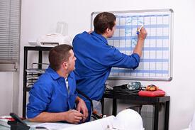 Field Service Plan With Gantt Chart