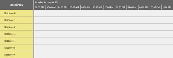 Visual Scheduling Widget - non working times