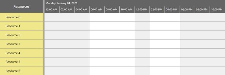可视化计划小部件的工作时间和非工作时间