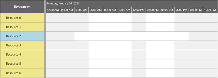 Visual Scheduling Widget - individual working times