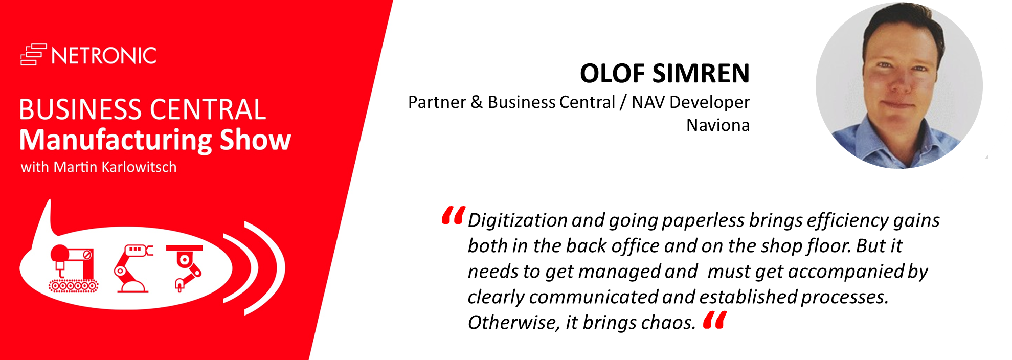 Business Central Manufacturing Shwow - Olof Simren - Quote