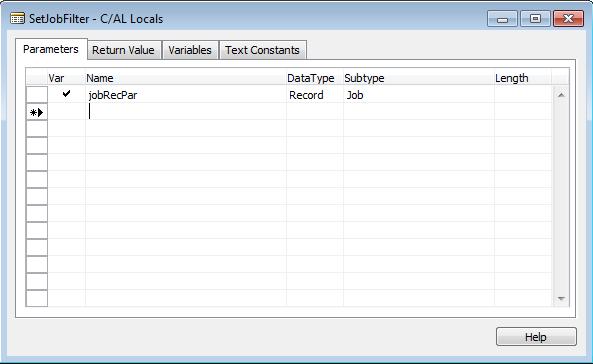 Visual Jobs Scheduler - Set Job Filters II