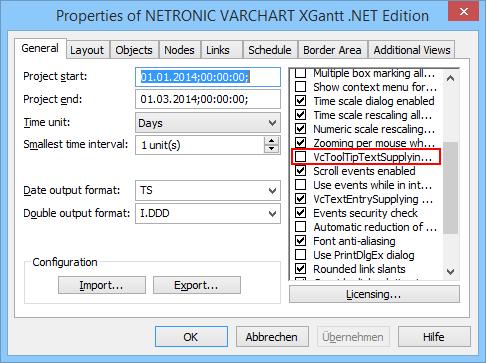 Tooltip VARCHART XGantt Property