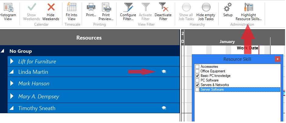 Visual Jobs Scheduler for Dynamics NAV: Function Highlight skills