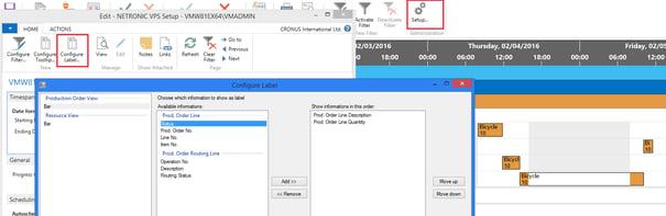 Visual Production Scheduler for Microsoft Dynamics NAV SR 4 of Version 1.3
