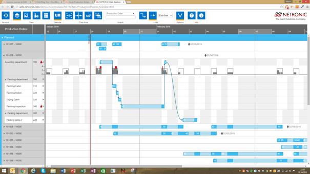 HTML5 JavaScript Visual Production Scheduler for Dynamics NAV