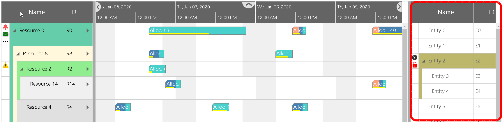 HTML5 Gantt charts and backlog visualization