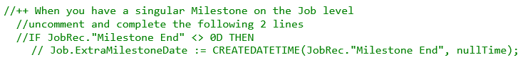 code_milestone on job level 2