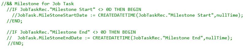 code_milestone on job task level 2