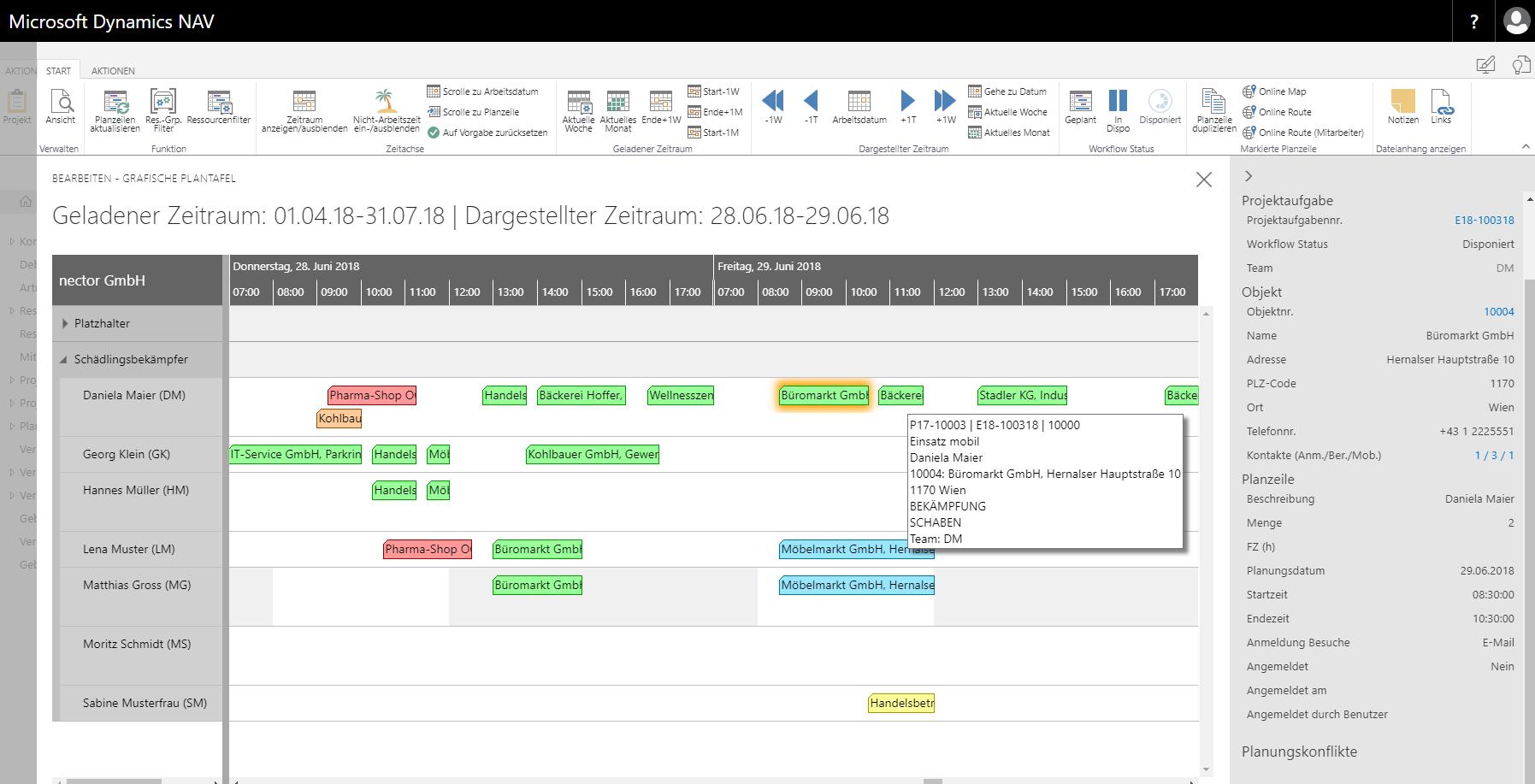 nector pestsoft staff planning