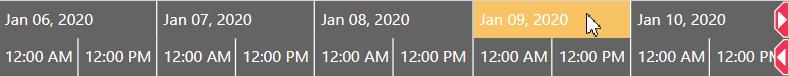 Visual Scheduling Widget - timescale