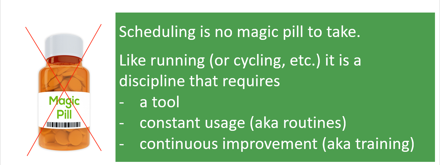 Production scheduling is not a magic pill