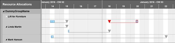 Show NAV response date of service item lines