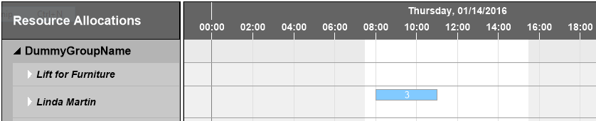 Individual working hours in Visual Service Scheduler