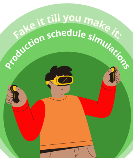 production simulations with the visual advanced production scheduler