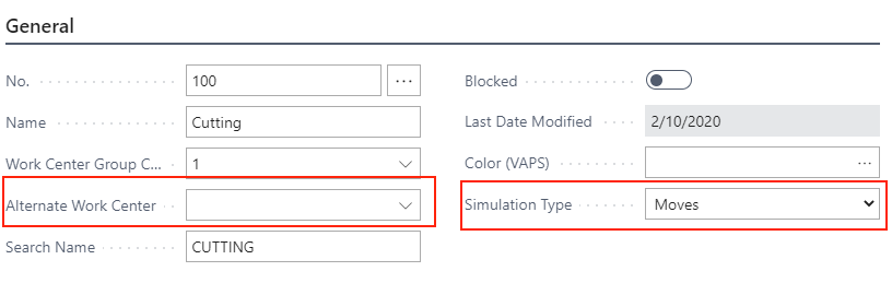 Visual Advanced Production Scheduler for Dynamics 365 Business Central - recommended setting