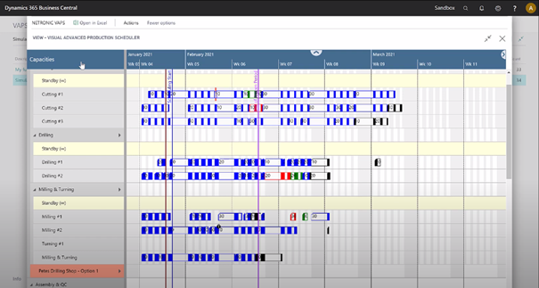 Visual Advanced Production Scheduler for Dynamics 365 Business Central