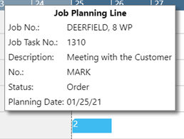 job planning line tooltip