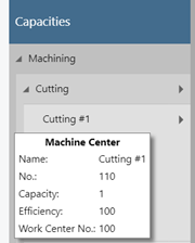 machine center - tooltip