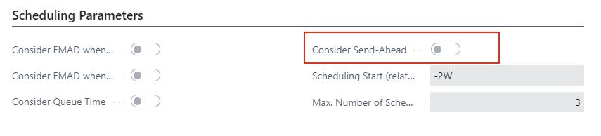 VAPS consider send-ahead quantity