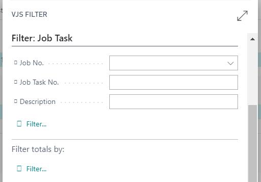 filter for job task
