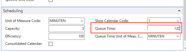 VPS set queue time on NAV card